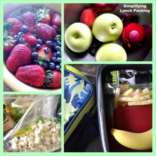 simplifying lunch packing